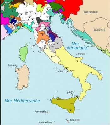 Carte d italie du nord 1404